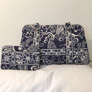 Vera Bradley Blue and white shoulder bag / bonus